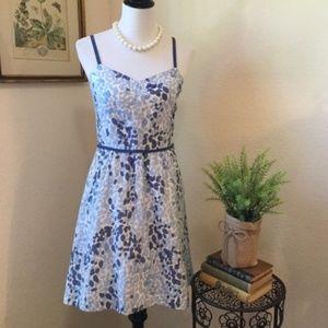 VINEYARD VINES Blue Watercolor Sundress sz10